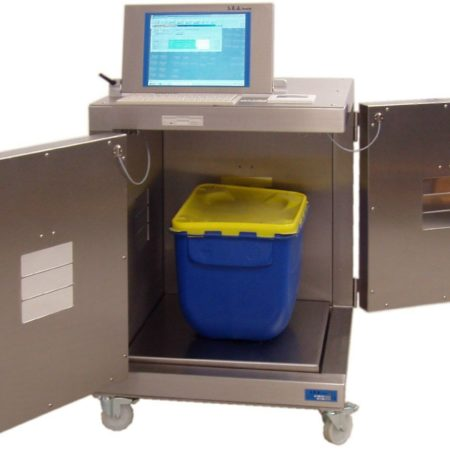 A release counter with radiological waste inside