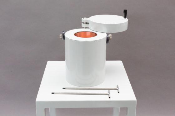 Shielded transport box for gamma spectroscopy